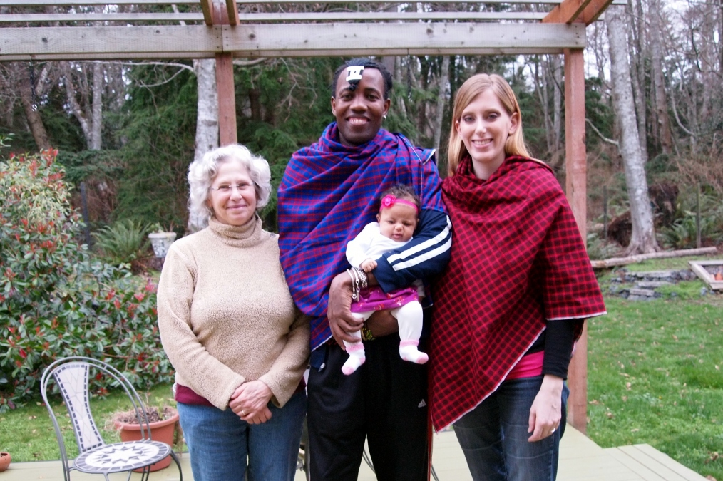 Our mid-wife Cynthia with Stanley, Nunu and myself before their Journey to Tanzania.